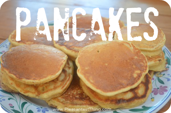banana whole wheat pancakes