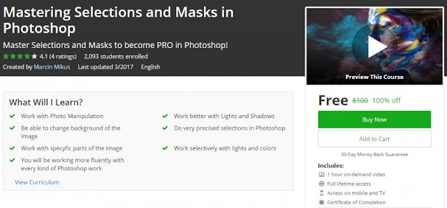 [100% Off] Mastering Selections and Masks in Photoshop| Worth 100$