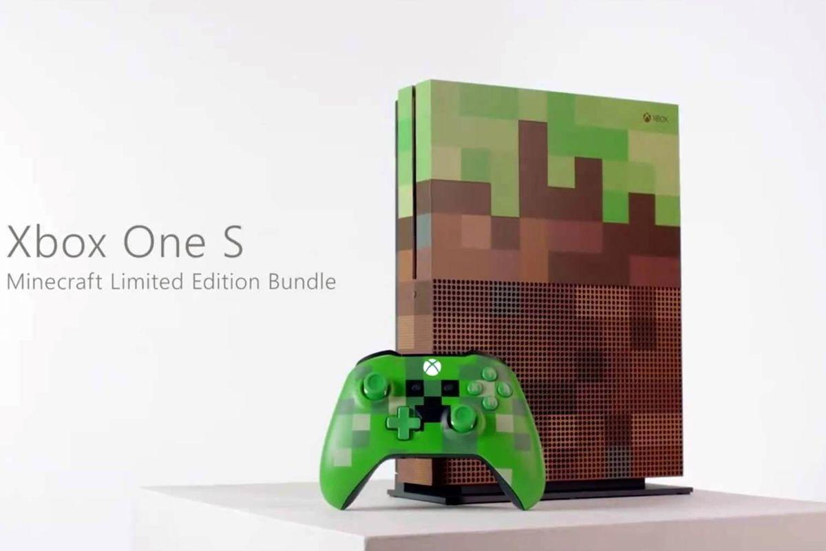 Se anuncia Xbox One S tematizada con Minecraft