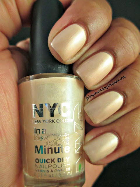 NYC Mulberry Street, swatch, church nails, nude, champagne, mani