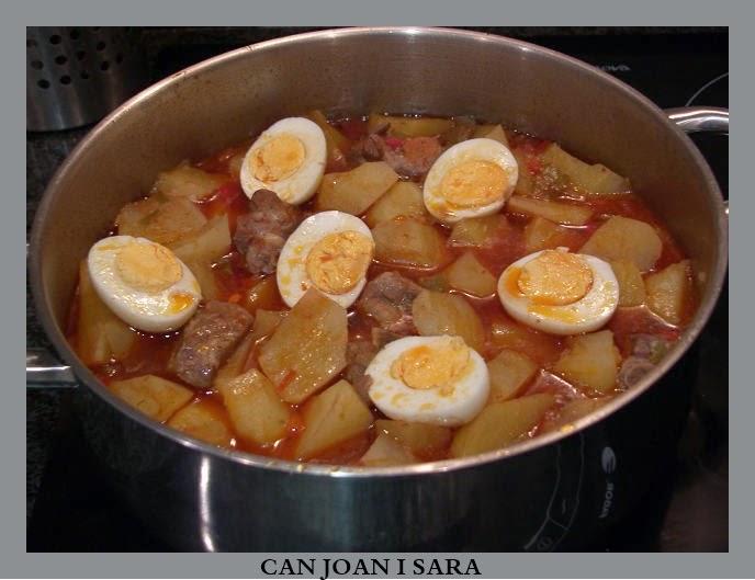 Can joan i sara patatas con costilla y huevo duro - Tiempo para cocer patatas ...