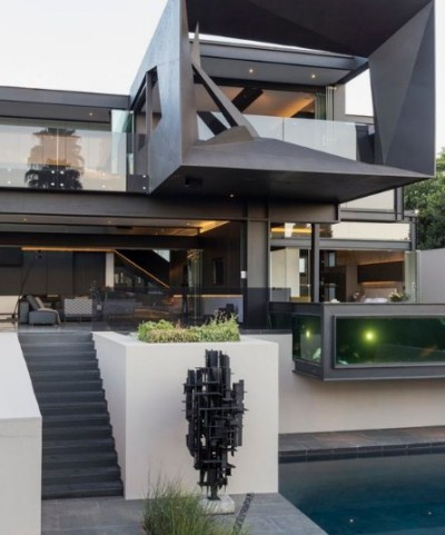 rumah futuristik minimalis kontemporer