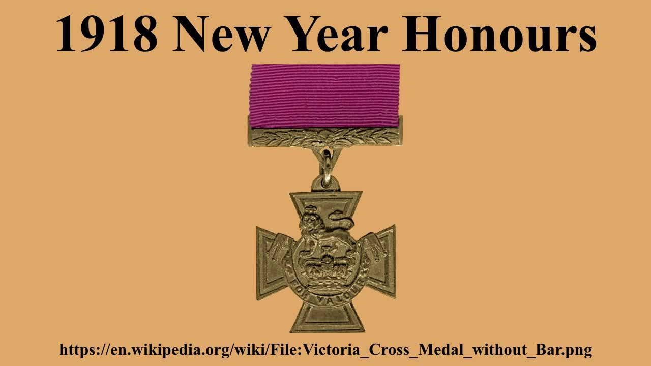1918 New Year Honours
