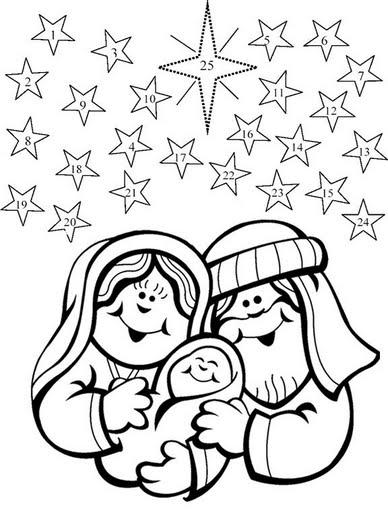 Desenhos De Presepio De Natal Para Colorir
