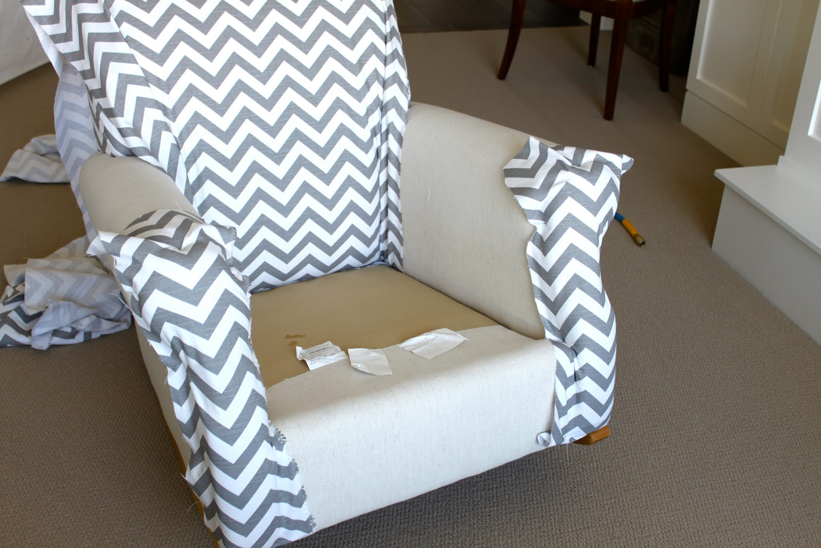armchair cover diy tub chairs images amy 39s casablanca quick and easy upholstery