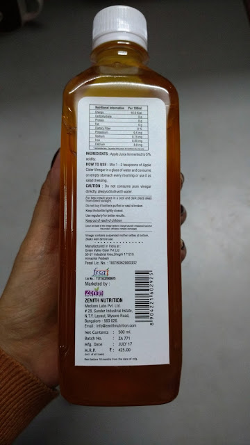 Zenith Nutrition's Apple Cider Vinegar Review and Pictures
