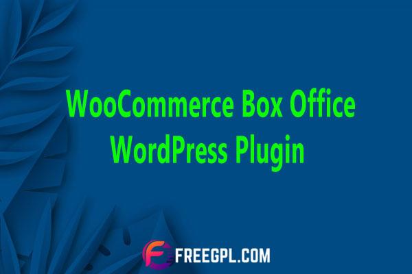WooCommerce Box Office WordPress Plugin Nulled Download Free