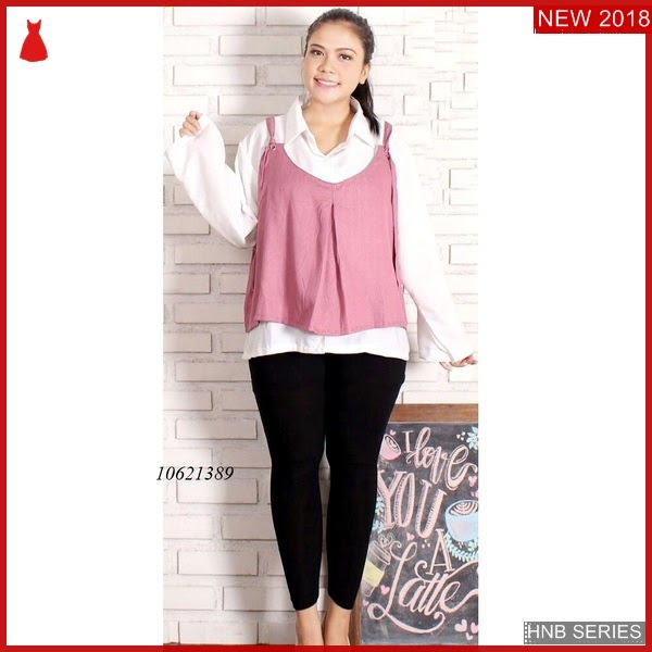 HNB010 Model Olivia Blouse Peplum Top Ukuran Besar BMG Shop
