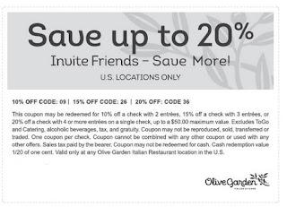 Olive garden coupons june 2019
