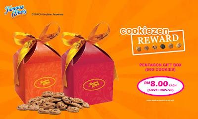 Famous Amos Malaysia Cookiezen Reward Pentagon Gift Box