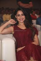 Pragya Jaiswal in Stunnign Deep neck Designer Maroon Dress at Nakshatram music launch ~ CelebesNext Celebrities Galleries 148.JPG