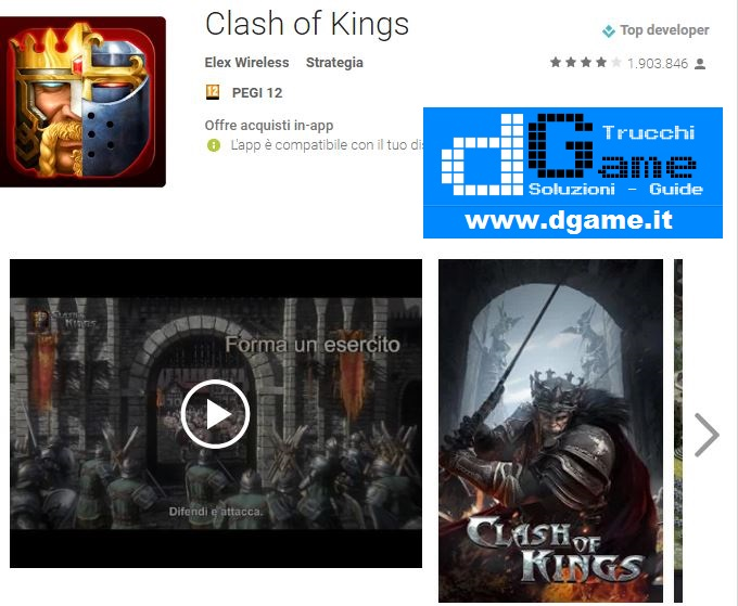 Trucchi Clash of Kings Mod Apk Android v2.14.0