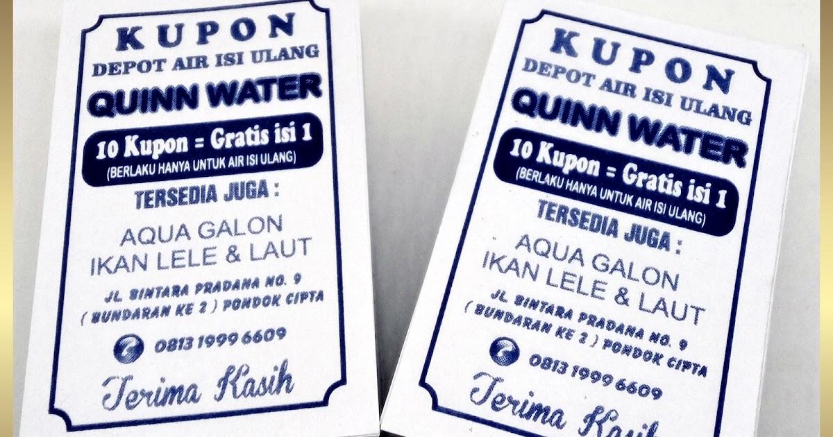 Cetak Kupon Depot Air Minum Isi Ulang Refill Galon