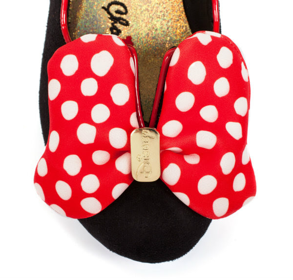 irregular choice disney classic minnie mouse bow detail