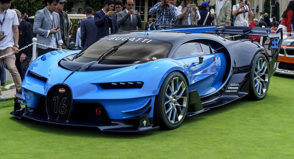 Bugatti S Vision Gran Turismo Stuns At Pebble Beach Concept Lawn
