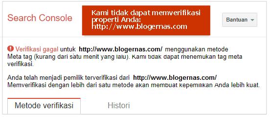 Cara Pasang Kode Verifikasi Meta Tag Google Search Console