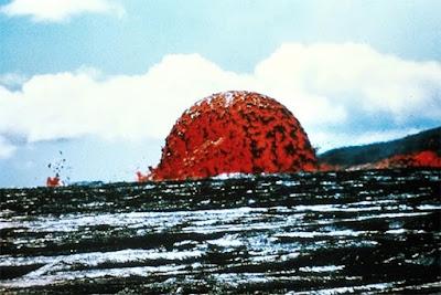 Lava Letusan Mauna Ulu di Hawaii Membentuk Kubah