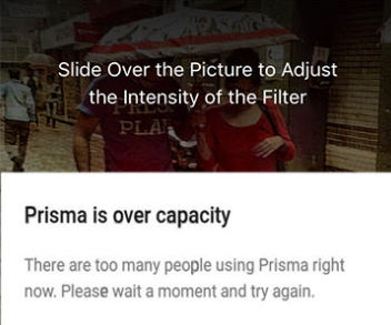 Prisma is Over Capacity Error di Android