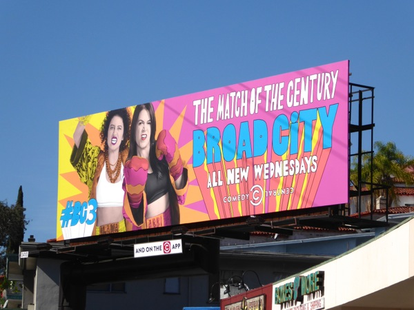Broad City season 3 billboard