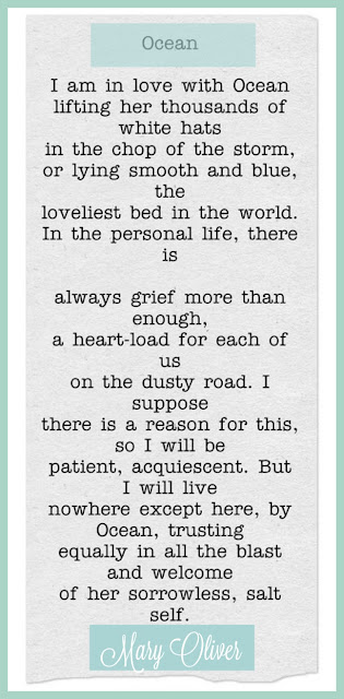 Ocean poem by Mary Oliver - found on Hello Lovely Studio