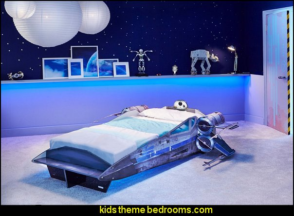 Star Wars X-Wing Single Bed - star waars bed - decorating star wars bedroom furniture