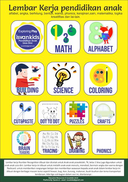 Lembar Kerja Gratis Pendidikan Anak Printable Worksheet