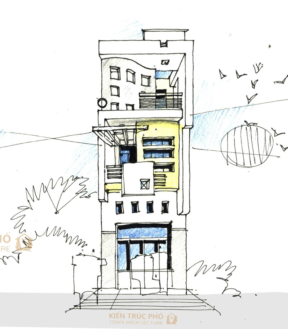 tube house facade