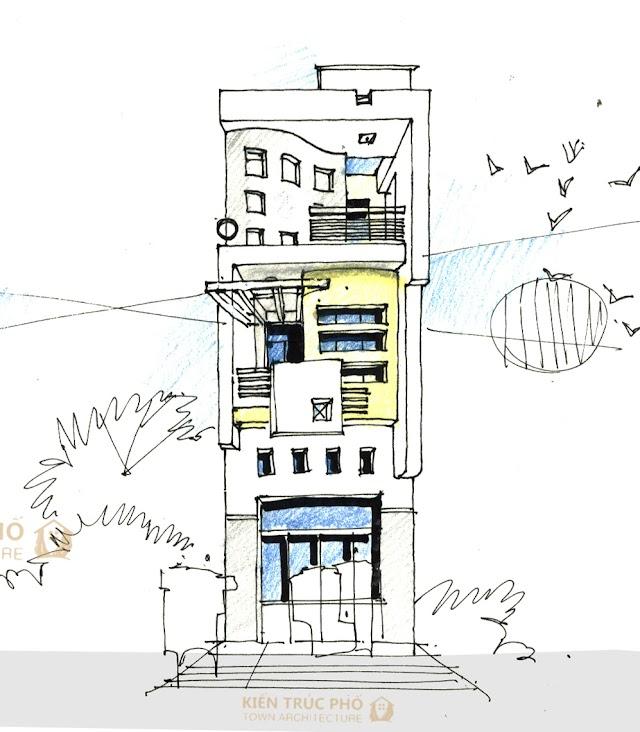 Tube house design in Vietnam
