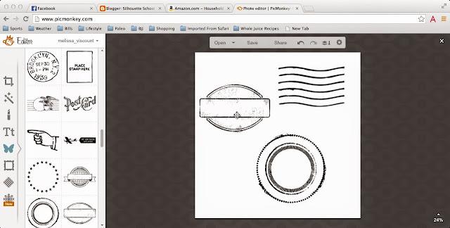 Silhouette tutorial, santa sack, heat transfer vinyl, HTV, Silhouette Studio, PicMonkey