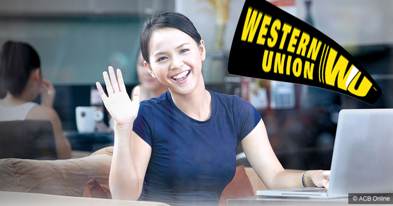 Hướng dẫn nhận tiền Western Union bằng ACB online