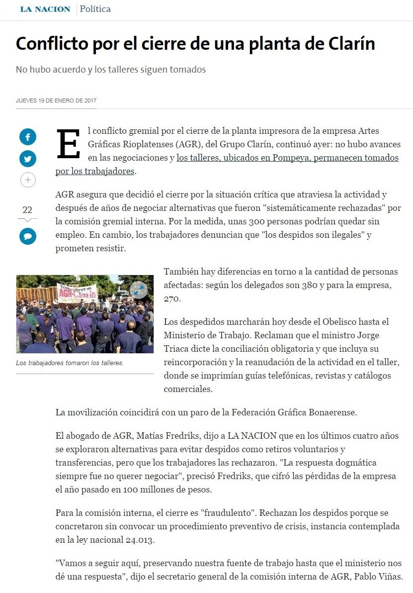 Señales: OLGA! Eliminaron de La Nación la nota sobre el conflicto en ...