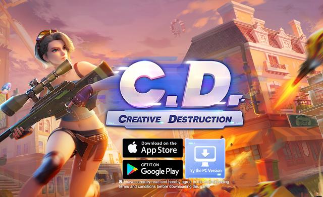 تحميل شبيهة فورت نايت لعبة creative destruction  للموبايل اندرويد والايفون