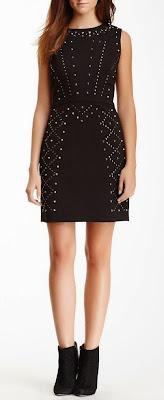 black studded sheath dress
