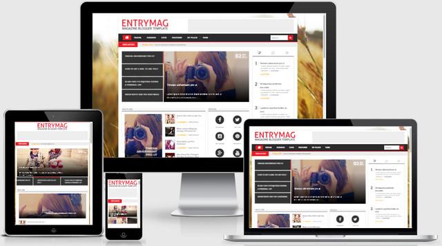 EntryMag Magazine Responsive Blogger Templates
