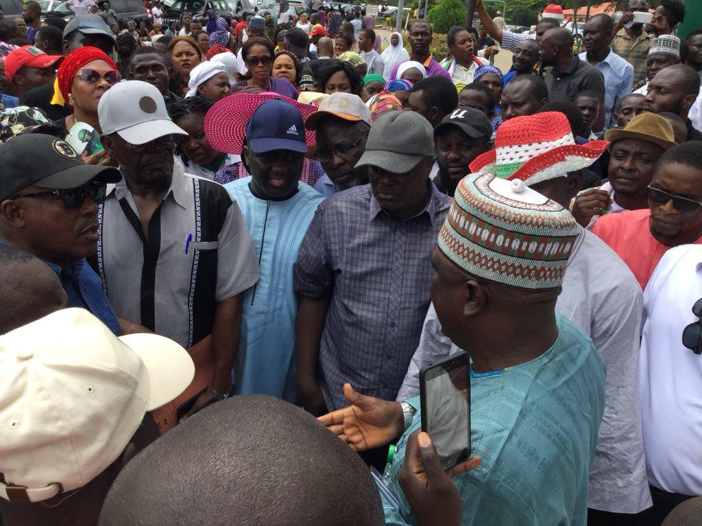 Image result for Pro-PDP demonstration holds at NASS entrance