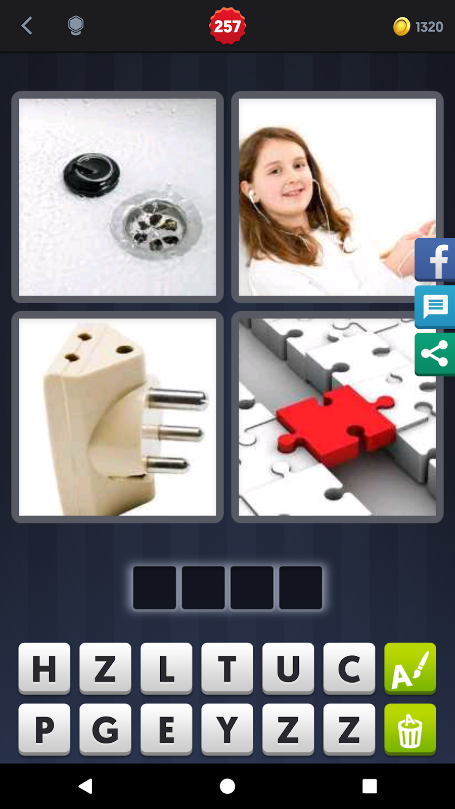 4 Pics 1 Word Answers Solutions Level 257 Plug