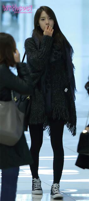Chayeon 차연: Yoona @ Gimpo Airport 2012.01.10