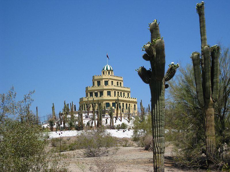 One Speed Go Tovrea Castle in Phoenix From the Bike Lane