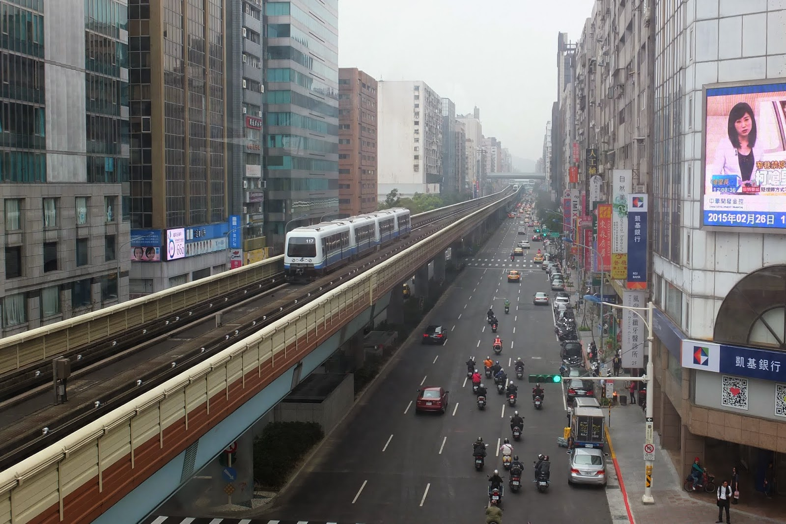 Taiwan-railway 台湾の高架鉄道