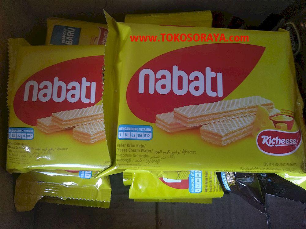 Jual Produk Nabati Richoco Wafer Krim Keju 50 gram