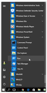 Start Menu -> Windows System