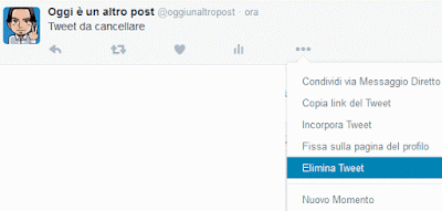 Come cancellare un tweet su Twitter
