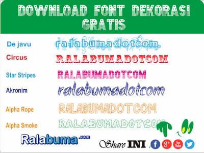 fonts jenis dekorasi