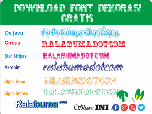 Download Gratis Fonts Jenis Dekorasi