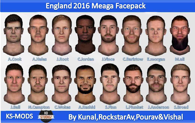 HS Studioz England 2016 Mega Facepack For Cricket 07