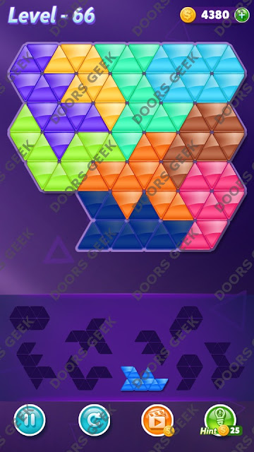 Block! Triangle Puzzle 9 Mania Level 66 Solution, Cheats, Walkthrough for Android, iPhone, iPad and iPod