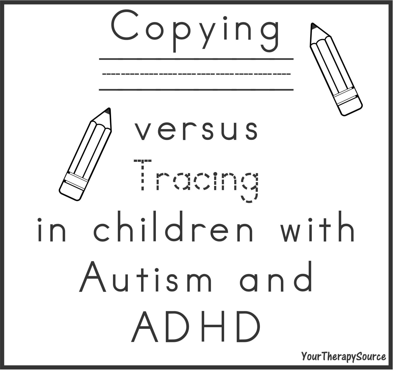 Handwriting Motor Skills Motor Memory And Autism