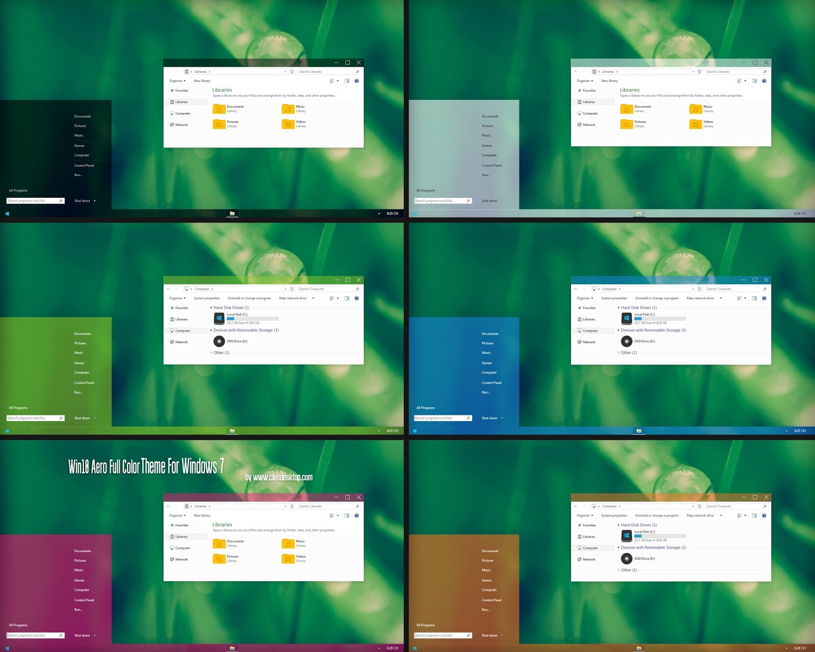 how to change windows 7 theme color