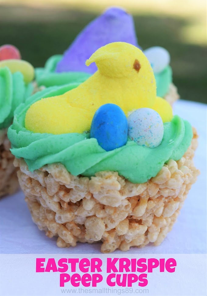 Check Out These Adorable and Cute Easter Krispie Peep Cups!