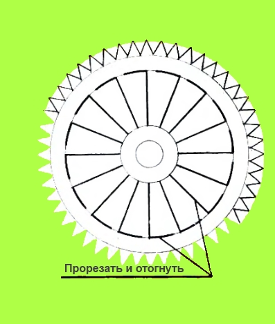Схема крышки абажура